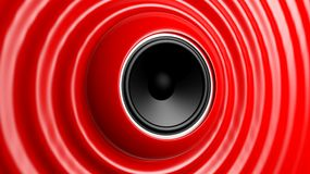 Speaker with red abstract Stock Photo