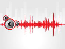 Speaker and red graph isolated on gray, wallpaper Royalty Free Stock Image