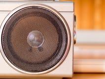 Speaker on retro cassette recorder Stock Images