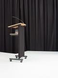 Speaker's desk on stage Stock Photography