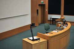 Speaker's stand Royalty Free Stock Photos