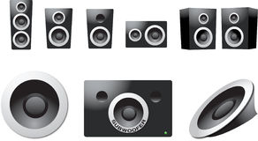 Speaker set Stock Photos