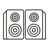 Speaker. Simple flat speaker icon vector Royalty Free Stock Photography
