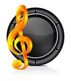 Speaker sound background Stock Image