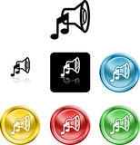 Speaker sound media icon symbo Stock Photography