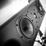 Speaker sound music woofer tweeter. Speaker music speakers Stock Photography