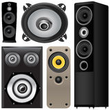 Speaker and sound system Royalty Free Stock Photo