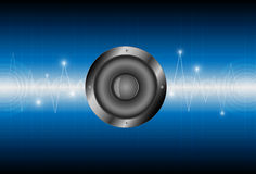 Speaker sound wave background Stock Image