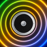 Speaker and sound waves Royalty Free Stock Photos