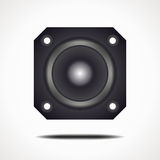 Speaker square. Vector format. For the musical theme Stock Photo