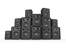 Speaker Stack stock images