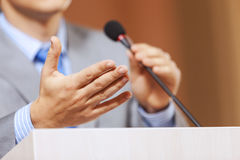 Speaker at stage Royalty Free Stock Photography
