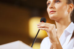 Speaker at stage Royalty Free Stock Images