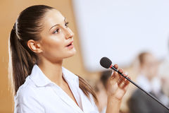 Speaker at stage Royalty Free Stock Photos