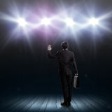 Speaker on stage Royalty Free Stock Photos
