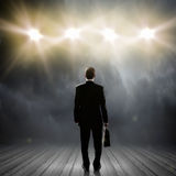 Speaker on stage Royalty Free Stock Photography