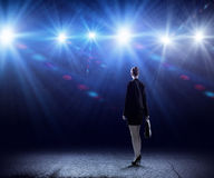 Speaker on stage Royalty Free Stock Photo