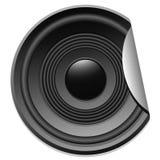 Speaker sticker Royalty Free Stock Image