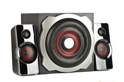 Speaker system with subwoofer Stock Photo