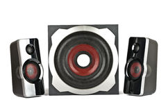 Speaker system with subwoofer Stock Photography