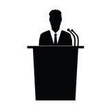 Speaker talk art  silhouette Stock Images