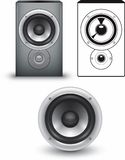 Speaker. Three versions of a speaker Vector Illustration