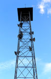 Speaker tower on blue sky Stock Image