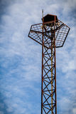 Speaker Tower with Sky / Speaker Tower / Speaker on High Tower with Sky Background Stock Photos