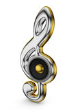 Speaker and  treble clef Royalty Free Stock Images
