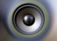 Speaker tweeter woofer bass. Boom box sound waves Royalty Free Stock Photo