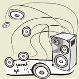 Speaker vector Stock Image