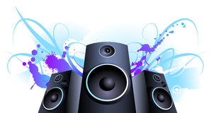 Speaker Violet stain. Color splash  background Stock Photography