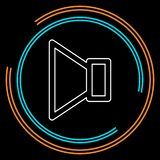 Speaker volume icon - audio voice sound symbol vector illustration