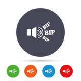 Speaker volume icon. Sound with BIP symbol. Royalty Free Stock Image