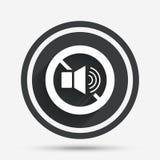 Speaker volume sign icon. No Sound symbol. Royalty Free Stock Photo