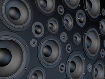 Speaker wall stock illustration