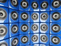 Speaker wall Stock Photo