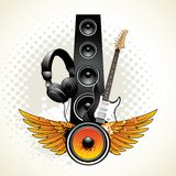 Speaker with wings Royalty Free Stock Photography