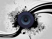 Speaker With Grunge Wave Line Stock Image