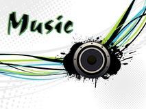 Speaker With Grunge Wave Line Background Stock Image