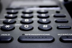 Speakerphone Stock Afbeelding