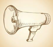 Speakerphone. Vector drawing Royalty Free Stock Images