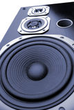 Speakers. Closeup of three stereo speakers royalty free stock images
