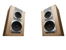 Speakers. 3D render of speakers isolated on white background Royalty Free Stock Image