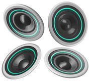 Speakers. Sound speakers at different view angles Stock Images