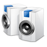 Speakers. Vector illustration of audio speakers on white background Royalty Free Stock Photography
