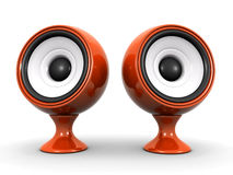 Speakers. Stylish speakers on a white background (3d render Royalty Free Stock Photo