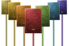 Speakers. The photo of colorful speakers stock photo