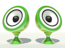 Speakers. 3d on a white background Royalty Free Stock Images