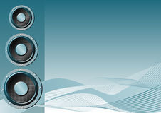 Speakers. Abstract vector of speakers on a blue background Royalty Free Stock Photography